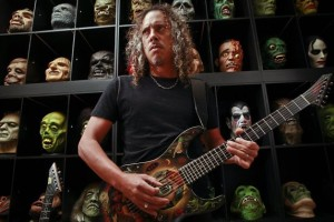 Kirk Hammett and his toys