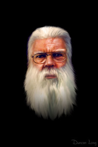 Portrait of Samuel R. Delany by Duncan Long